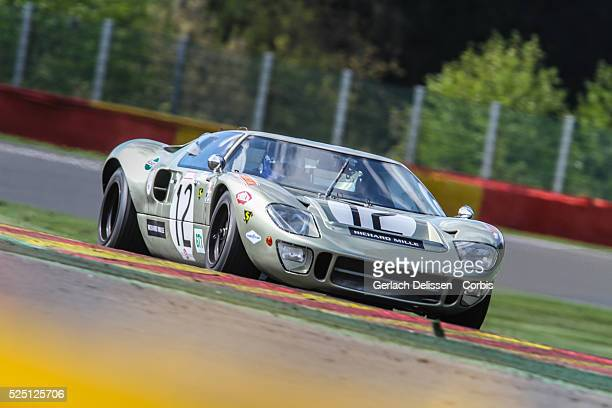 Ford GT40 Mark II in action during Spa-CLassic, May 25th, 2013 at Spa-Francorchamps Circuit in Belgium.