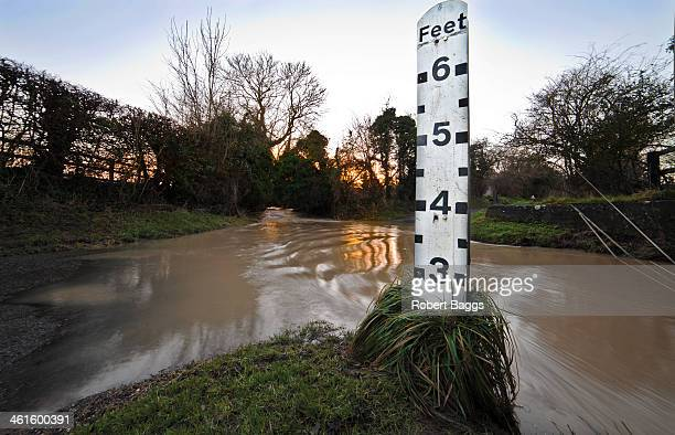 Ford in Hertfordshire picking up speed after torrential rain.