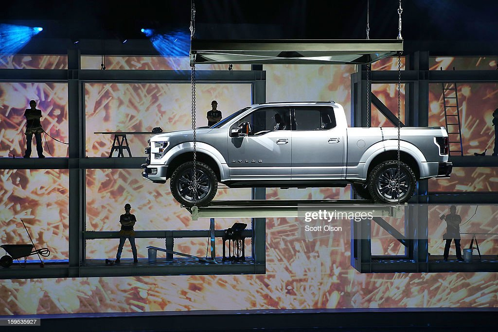 Ford introduces the Atlas Concept truck at the North American International Auto Show on January 15, 2013 in Detroit, Michigan. The auto show will be open to the public January 19-27.