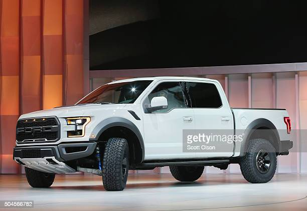 Ford introduces the F150 Raptor at the North American International Auto Show on January 11 2016 in Detroit Michigan The show is open to the public...