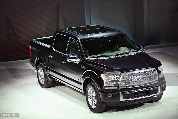 Ford introduces the new F150 pickup truck at the North American International Auto Show on January 13 2014 in Detroit Michigan The auto show opens to...