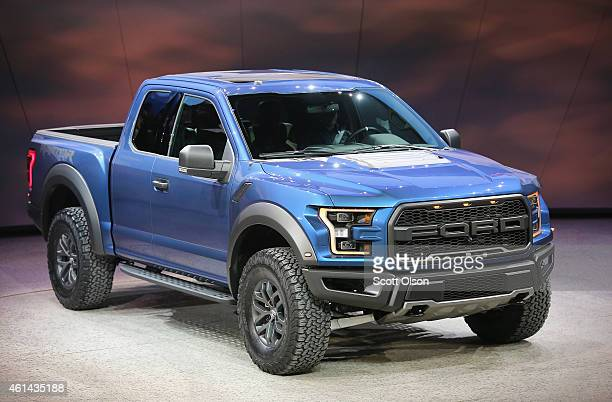 Ford introduces the new Ford F150 Raptor at the North American International Auto Show on January 12 2015 in Detroit Michigan More than 5000...