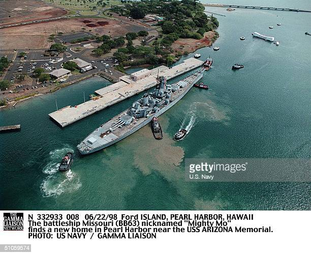 Ford Island Pearl Harbor Hawaii The Battleship Missouri Nicknamed Mighty Mo Finds A New Home In Pearl Harbor Near The USS Arizona Memorial
