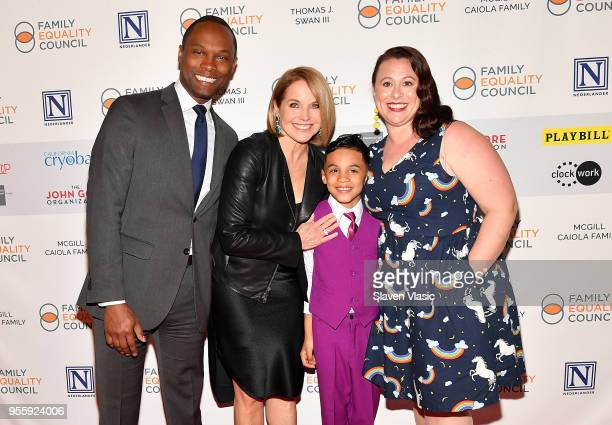 JR Ford Katie Couric Ronnie Ford and Vanessa Ford attend Family Equality Council's Night At The Pier at Pier 60 on May 7 2018 in New York City