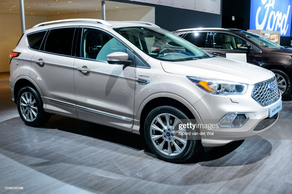 Ford Kuga Vignale Compact Crossover Luxury Suv Front View On Display News Photo Getty Images