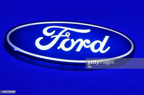 ford logo - ford motor company stock pictures, royalty-free photos & images