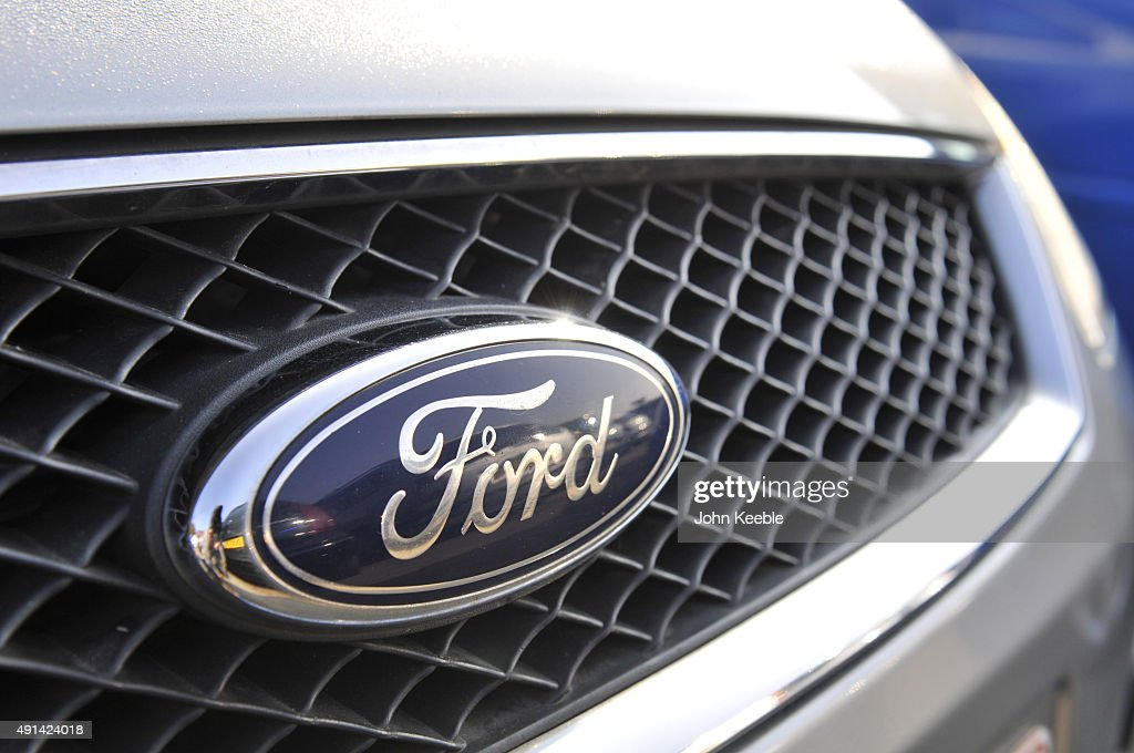 Ford logo radiator badge is pictured on October 4, 2015 in Southend on Sea, England.