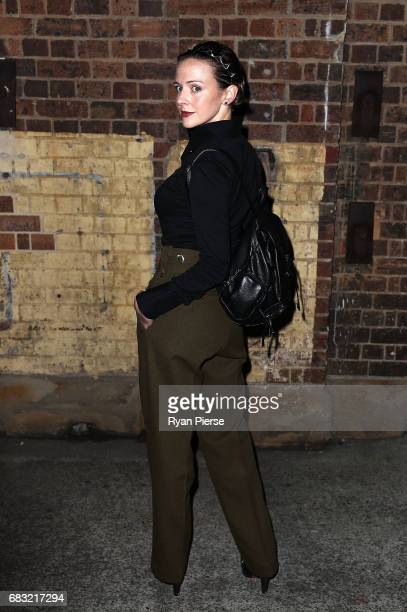 Ford Millinery designer Chantelle Ford arrives at Mercedes-Benz Fashion Week Resort 18 Collections at Carriageworks on May 15, 2017 in Sydney,...