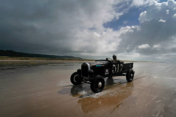 GBR: Vintage Hot Rods Race At Pendine Sands
