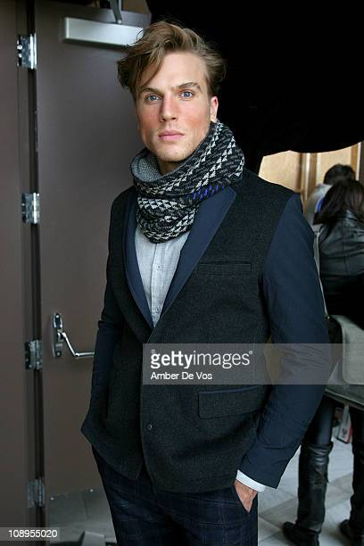 Ford Model Luke Gulbranson walks at the NUMBERLab FW11 fashion show during Fall 2011 MercedesBenz fashion week at The Standard Hotel on February 9...