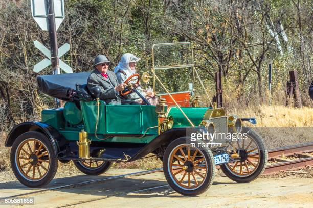 ford model t vintage vehicle at a show in magaliesberg - model t ford stock pictures, royalty-free photos & images