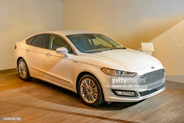 Ford Mondeo familiy car of the fith generation front view on display at Brussels Expo on January 13 2017 in Brussels Belgium The Ford mondeo or Ford...