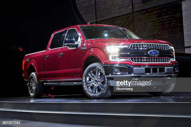 A Ford Motor Co 2018 F150 truck is displayed during the 2017 North American International Auto Show in Detroit Michigan US on Monday Jan 9 2017 Last...