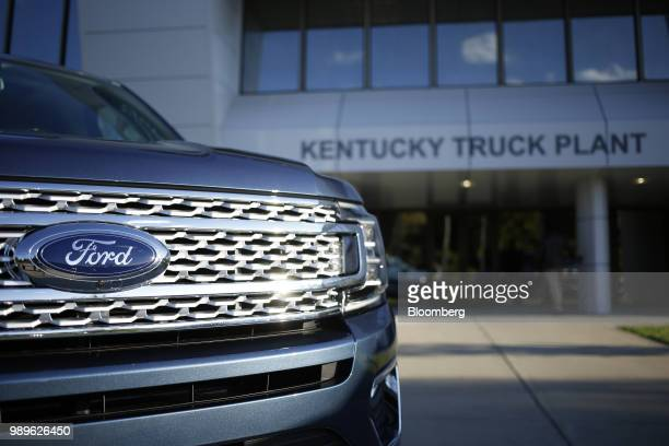 Ford Motor Co Expedition sports utility vehicle sits parked outside of the Ford Kentucky Truck Plant in Louisville Kentucky US on Friday Oct 27 2017...