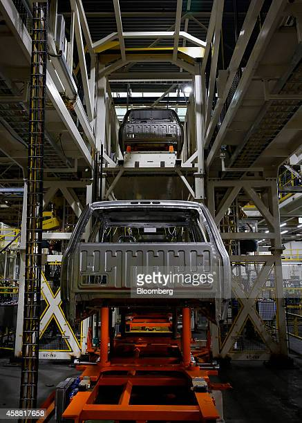 Ford Motor Co F150 truck moves along the production line at the company's Dearborn Truck Assembly facility in Dearborn Michigan US on Tuesday Nov 11...