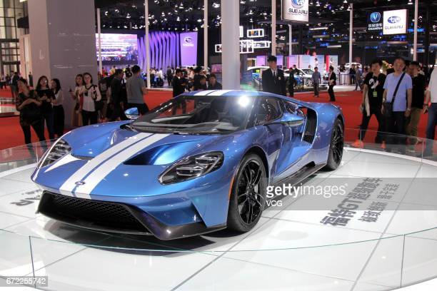 Ford Motor Co GT sports vehicle is on display during the 17th Shanghai International Automobile Industry Exhibition at the National Exhibition and...