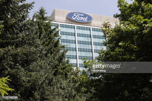 Ford Motor Co. Headquarters stands in Dearborn, Michigan, U.S., on Monday, July 15, 2019. Negotiations between the United Auto Workers and Detroit...