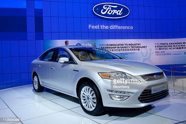 A Ford Motor Co Mondeo automobile is displayed at the Auto Shanghai 2011 car show in Shanghai China on Tuesday April 19 2011 Ford Motor Co has cut...