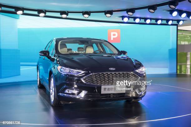 A Ford Motor Co Mondeo vehicle sits on display at the Auto Shanghai 2017 vehicle show in Shanghai China on Thursday April 20 2017 FordChief...