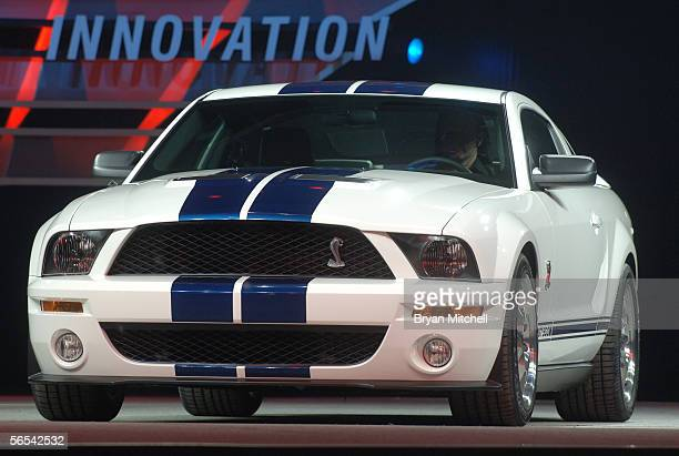 Ford Motor Company shows off the 2007 Shelby GT500 to the world automotive media during the press preview days at the North American International...