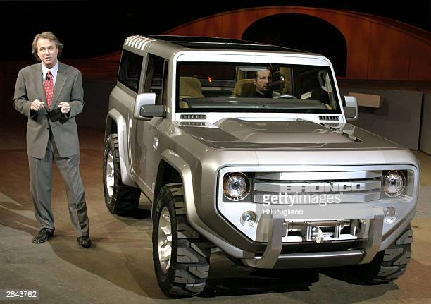 Ford Motor Company vice president of design J Mays introduces the new Ford Bronco concept vehicle at the North American International Auto Show...