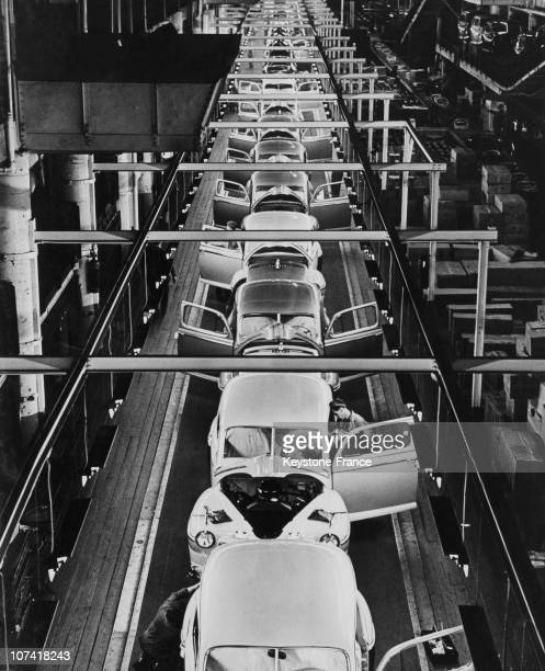 Ford Motor Copany Assembly Line At Dearborn In Michigan