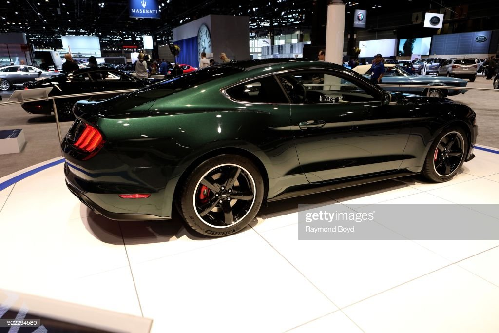 Ford Mustang Bullitt is on display at the 110th Annual Chicago Auto Show at McCormick Place in Chicago, Illinois on February 9, 2018.
