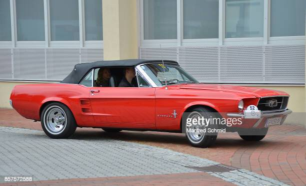 Ford Mustang Convertible in the '6th EbreichsdorfClassic' oldtimer rally at Markt Piesting on September 2 2017 in Markt Piesting Austria