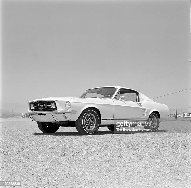 Ford Mustang Fastback Sleekness has been increased with the full length sloping roof and all new body panels Yes those are whitewalls This test...