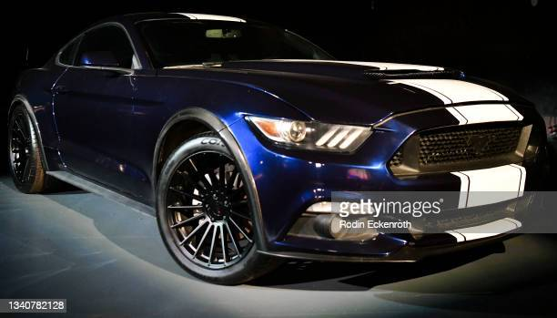 Ford Mustang GT350 on display at the F9 Fest event on the Universal Studios backlot celebrating F9: The Fast Saga on September 15, 2021 in Universal...