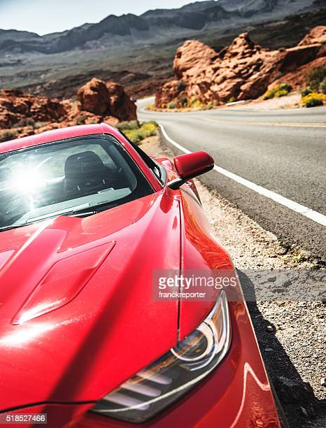 Ford Mustang on the Valley of Fire