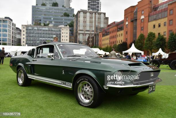 Ford Mustang Shelby Cobra GT 500 on display at the London Concours at the Honourable Artillery Company on June 7, 2018 in London, England. The event...