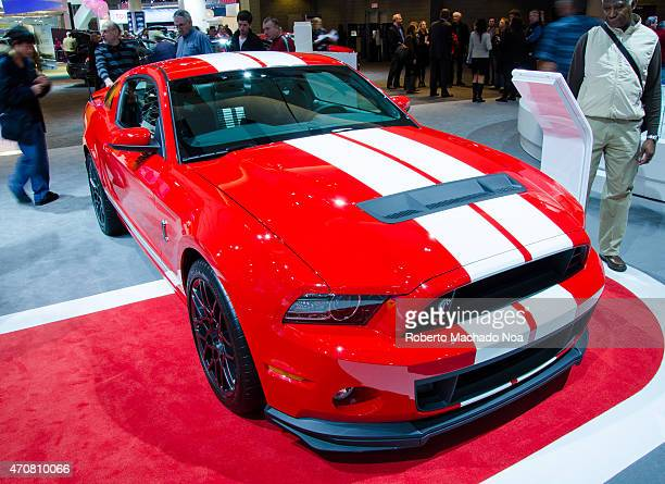 Ford Mustang Shelby GT500 during the Toronto's International Auto Show 2013 The show is arriving to 40 years this 2013