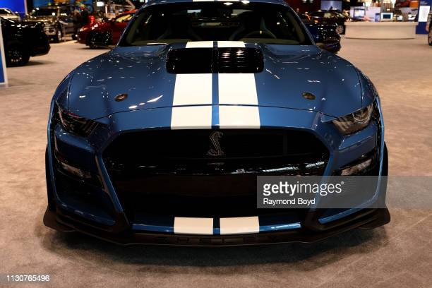 Ford Mustang Shelby GT500 is on display at the 111th Annual Chicago Auto Show at McCormick Place in Chicago Illinois on February 8 2019