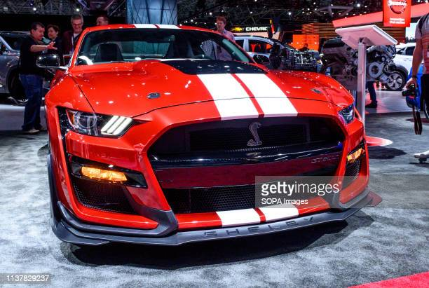 Ford Mustang Shelby GT500 seen at the New York International Auto Show at the Jacob K Javits Convention Center in New York