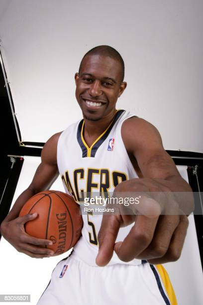Ford of the Indiana Pacers poses for a portrait during NBA Media Day on September 29, 2008 at Conseco Fieldhouse in Indianapolis, Indiana. NOTE TO...
