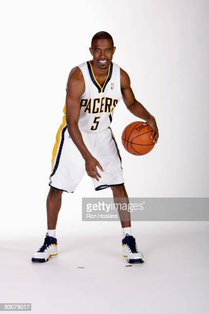 Ford of the Indiana Pacers poses for a portrait on NBA Media Day on September 29, 2008 at Conseco Fieldhouse in Indianapolis, Indiana. NOTE TO USER:...