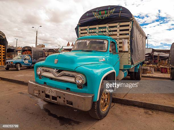 ford pickup truck ipailes, colombia - nariño department stock photos and pictures