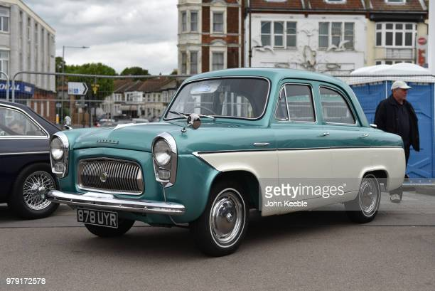 Ford Prefect on display during the Southend Classic Car Show along the seafront on June 17 2018 in Southend on Sea England