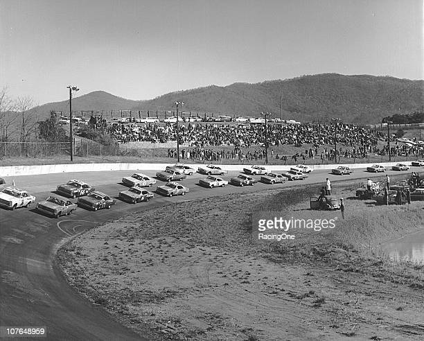 Ford products dominated the front starting rows of the Fireball 300 NASCAR Cup race at AshevilleWeaverville Speedway Bobby Allison sits on the pole...