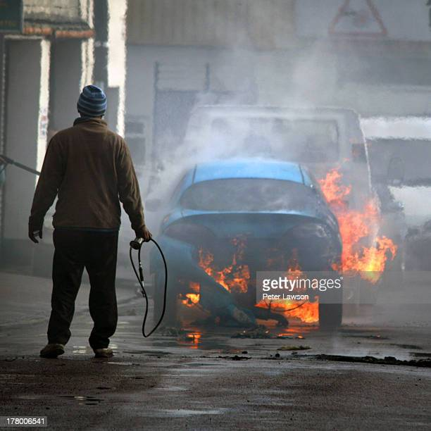 Ford Puma bursts into flames while being towed to a garage for a completely different repair