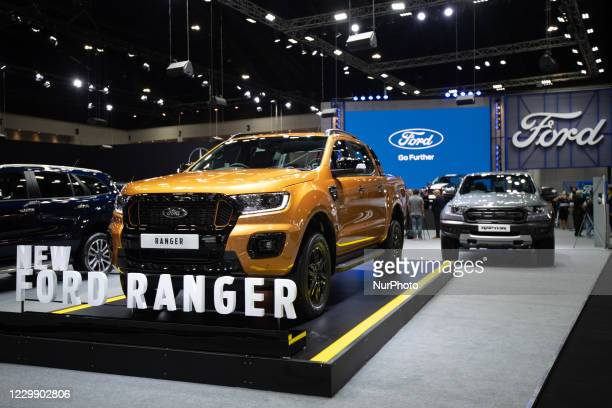Ford Ranger as new model on display during the Thailand International Motor Expo 2020 at Impact Challenger Muang Thong Thani on 1 December 1, 2020 in...