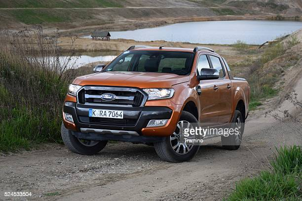 Ford Ranger Wildtrak on the unmade road