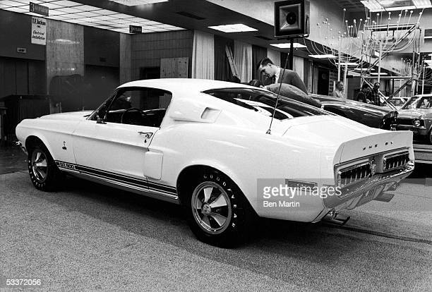 Ford Shelby Cobra GT 500 on display at the NY Auto Show