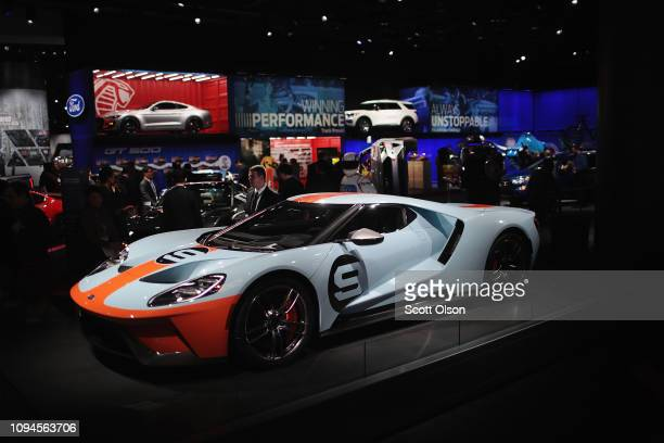 Ford shows off their GT at the North American International Auto Show at the Cobo Center on January 15 2019 in Detroit Michigan The show is open to...