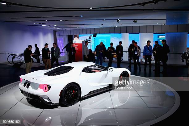 Ford shows off their GT at the North American International Auto Show on January 12 2016 in Detroit Michigan The show is open to the public from...