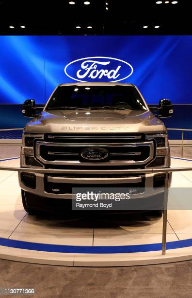 Ford Silverado Super Duty is on display at the 111th Annual Chicago Auto Show at McCormick Place in Chicago, Illinois on February 8, 2019.