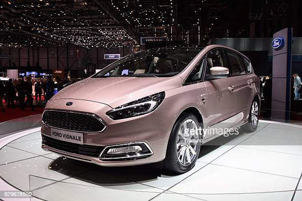ford s-max vignale on the motor show - ford stock-fotos und bilder