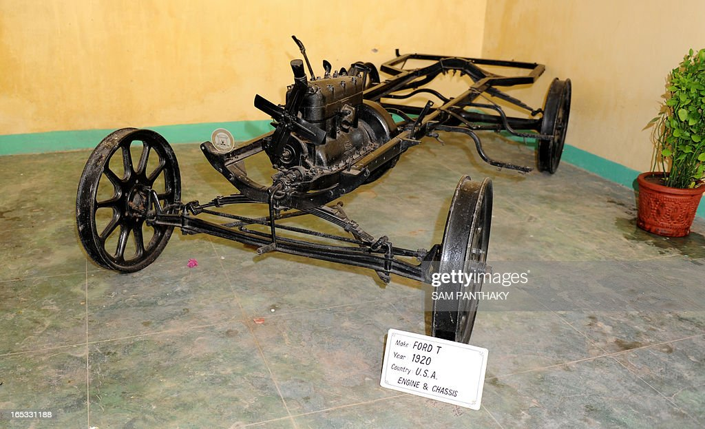 US Ford T chassis from 1920 on display at \'Auto World\' car museum ...