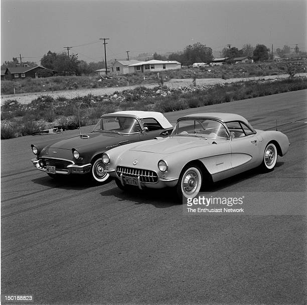 Ford Thunderbird Chevrolet Corvette These two V8 powered cars represent Detroit's version of sports cars This is a classic rivalry that continued for...